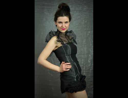 Sexy černé šaty